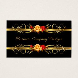Elegant Classy Gold Black Red Roses