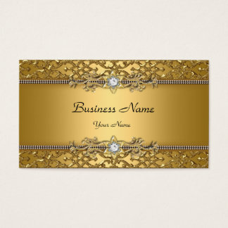Elegant Classy Gold Damask Embossed Jewel