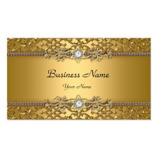 Elegant Classy Gold Damask Embossed Jewel Pack Of Standard Business Cards