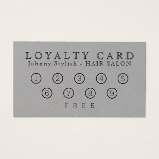 Elegant classy loyalty card gray