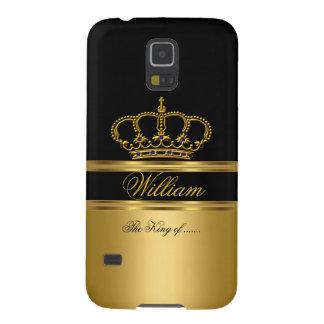 Elegant Classy Royal King Gold Black Crown 2a Galaxy S5 Case