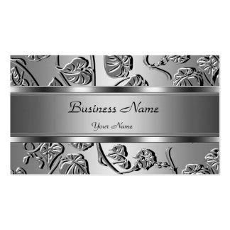 Elegant Classy Silver Embossed Look Image Pack Of Standard Business Cards