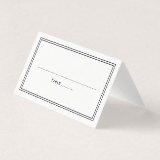 Elegant Classy Simple Stylish Wedding Place Card