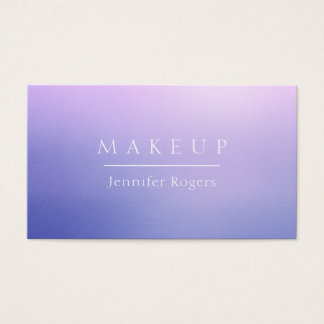 Elegant classy style blue purple violet shine business card