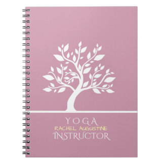 Elegant Classy Tree YOGA Studio Massage Therapy Notebook