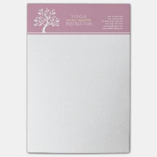 Elegant Classy Tree YOGA Studio Massage Therapy Post-it Notes