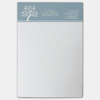Elegant Classy Tree YOGA Studio Massage Therapy Post-it Notes