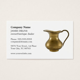 Elegant Clean Antique Dealer Business Card