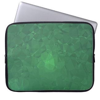 Elegant & Clean Geometric Designs - Cavern Moss Laptop Sleeve