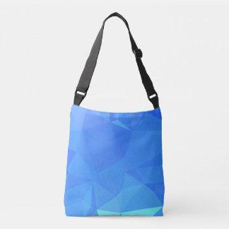 Elegant & Clean Geometric Designs - Lapis Cold Crossbody Bag