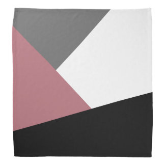 elegant clear dusty pink, black, grey geometrics head kerchiefs