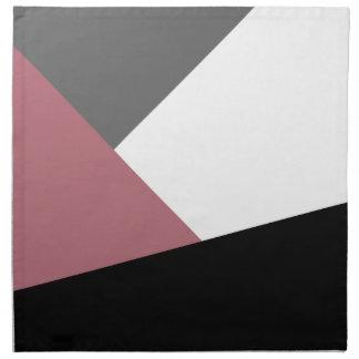 elegant clear dusty pink, black, grey geometrics napkin