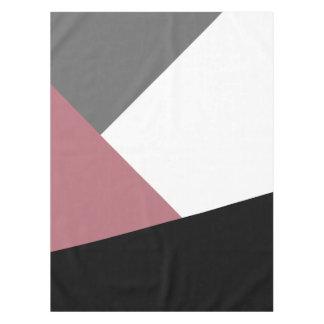 elegant clear dusty pink, black, grey geometrics tablecloth
