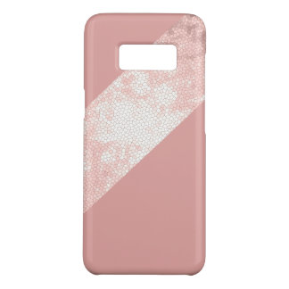 elegant clear faux rose gold pink stripes Case-Mate samsung galaxy s8 case