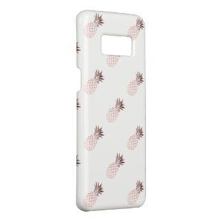 elegant clear faux rose gold tropical pineapple Case-Mate samsung galaxy s8 case