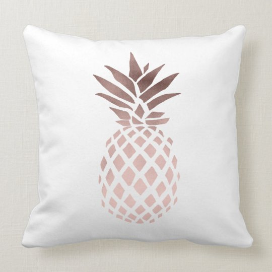 Elegant clear faux rose gold tropical pineapple cushion - Coussin rose gold ...