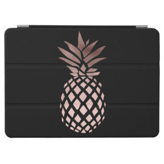 elegant clear faux rose gold tropical pineapple iPad air cover