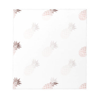 elegant clear faux rose gold tropical pineapple notepad