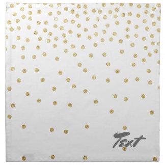 elegant clear gold glitter confetti dots pattern napkin