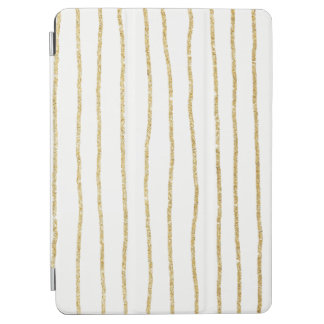 elegant clear gold stripes pattern iPad air cover