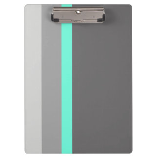 elegant clear mint grey stripes clipboard