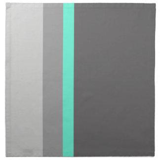 elegant clear mint grey stripes napkin