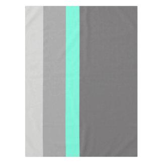 elegant clear mint grey stripes tablecloth