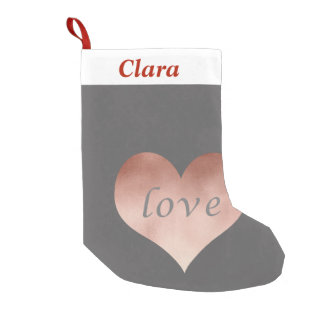 elegant clear rose gold foil love text heart