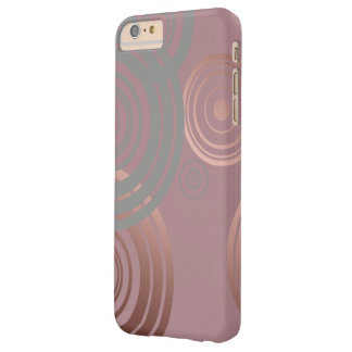 elegant clear rose gold grey geometric circles barely there iPhone 6 plus case
