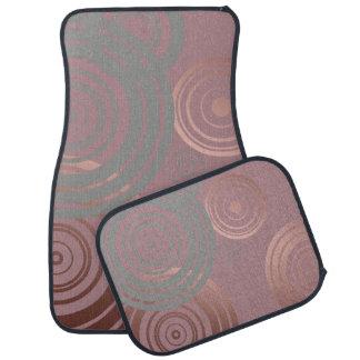 elegant clear rose gold grey geometric circles car mat