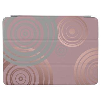 elegant clear rose gold grey geometric circles iPad air cover