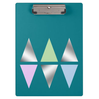 elegant clear silver triangles/diamons clipboards