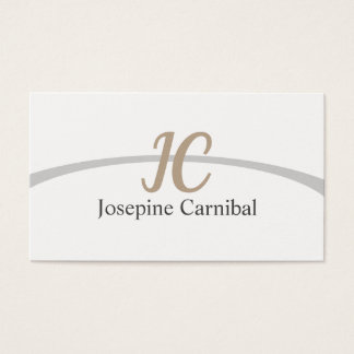 Elegant clearly fresh simple target business card