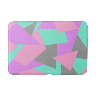 elegant color block colorful geometric pattern bath mat