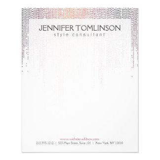 Elegant Colorful Confetti Rain Pattern 11.5 Cm X 14 Cm Flyer