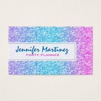 Elegant Colorful Glitter & Sparkles Texture Business Card