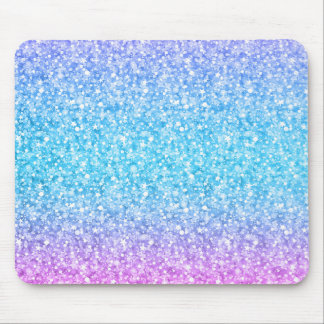 Elegant Colorful Glitter & Sparkles Texture Mouse Pad