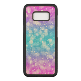 Elegant colorful modern bokeh glitter carved samsung galaxy s8 case