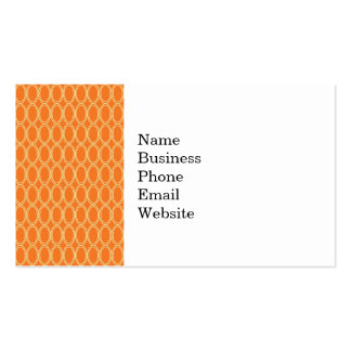 Elegant Colorful Orange and Cream Oval Pattern Pack Of Standard Business Cards