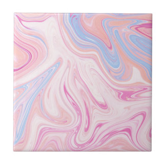 Elegant colorful pastel pink blue orange marble ceramic tile