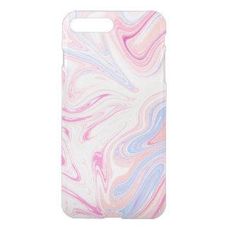 Elegant colorful pastel pink blue orange marble iPhone 8 plus/7 plus case