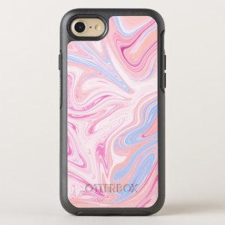Elegant colorful pastel pink blue orange marble OtterBox symmetry iPhone 8/7 case