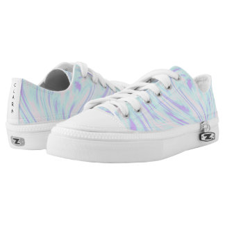 elegant colorful pink blue purple white marble low tops