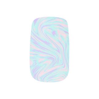 elegant colorful pink blue purple white marble minx nail art