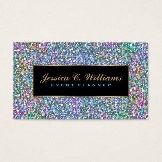 Elegant Colorful Purple Tint Glitter & Sparkles 5 Business Card