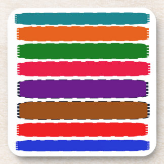 Elegant Colorful Rainbow Slices Pattern Drink Coasters