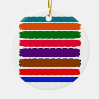 Elegant Colorful Rainbow Slices Pattern Round Ceramic Decoration