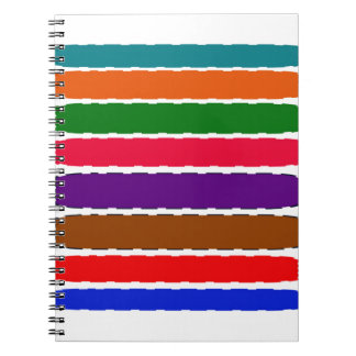 Elegant Colorful Rainbow Slices Pattern Spiral Note Book