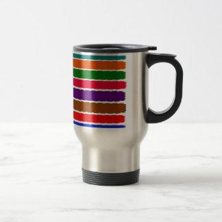 Elegant Colorful Rainbow Slices Pattern Stainless Steel Travel Mug