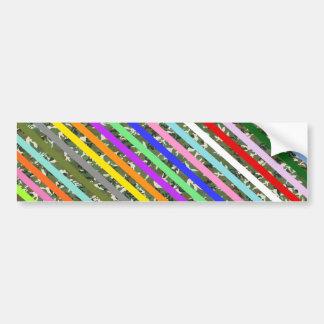 Elegant Colorful Stripe Camouflage Pattern Bumper Sticker